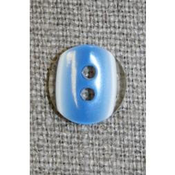 2-huls knap klar/blå, 13 mm.-20