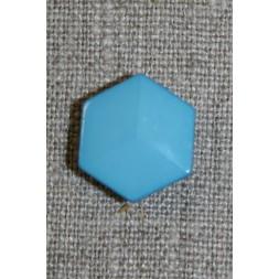 6-kantet knap, turkis-blå-20