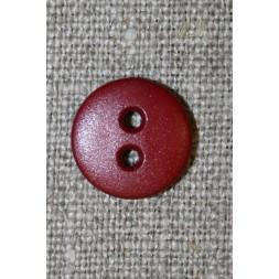 Mørk rød 2-huls knap, 14 mm.-20