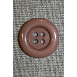 4-huls knap pudder-beige, 20 mm.-20