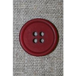 4-huls knap bordeaux, 20 mm.-20
