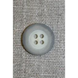 Grå-meleret 4-huls knap, 18 mm.-20