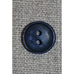 2-huls knap i mørkeblå, 13 mm.-20