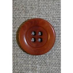 4-huls knap brændt orange-brun-20