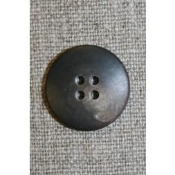 Brun/lysebrun meleret 4-huls knap, 23 mm.-20