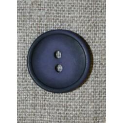 Blå-lilla 2-huls knap, 20 mm.-20