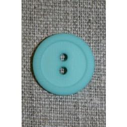 Aqua 2-huls knap m/kant, 20 mm.-20
