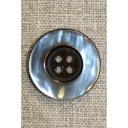 4-huls knap brun/beige, 25 mm.-20
