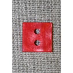 Firkantet blank knap, rød 15 mm.-20