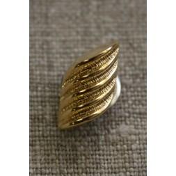 Guld-knap m/riller-20