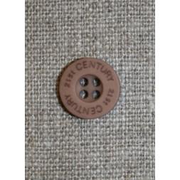 Knap pudder-brun 21st century, 13 mm.-20