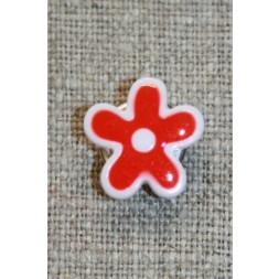 Blomsterknap rød/hvid, 15 mm.-20