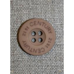 Knap pudder-brun 21st century, 20 mm.-20