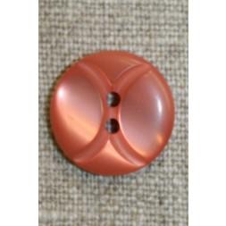 Knap m/buer 18 mm. melon-20