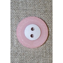 Babylyserød 2-huls knap, 20 mm.-20