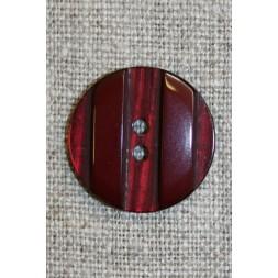 Bordeaux knap m/riller, 22 mm.-20