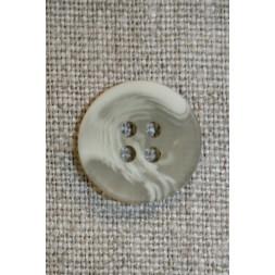 Buet knap grå-grøn/beige 18 mm.-20