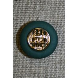 Knap flaskegrøn m/guld, 18 mm.-20