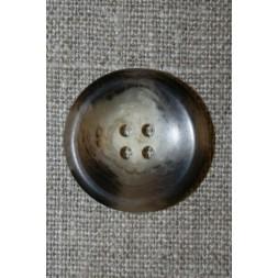 Brun/beige meleret 4-huls knap, 25 mm.-20