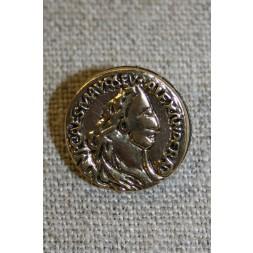 Guldknap i mønt-look, 18 mm.-20