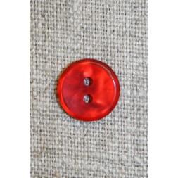 Rød meleret 2-huls knap, 13 mm.-20