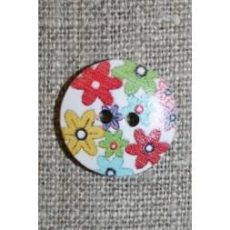 Knap træ m/print, rund hvid m/blomster-20