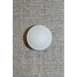 Rund hvid knap m/glimmer-20