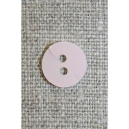 Babylyserød knap m/drejet look, 11 mm.-20