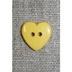 Hjerte knap gul-20