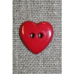 Hjerte knap rød-20