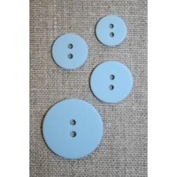 2-huls knap lyseblå 15 mm.-20
