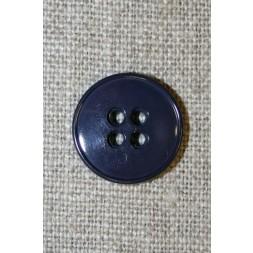 Mørk blå-lilla 4-huls knap, 18 mm.-20