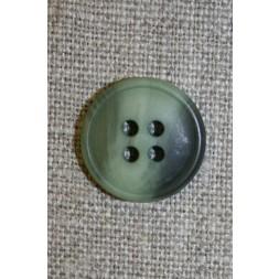 4-huls knap meleret lysegrøn/grøn, 18 mm.-20