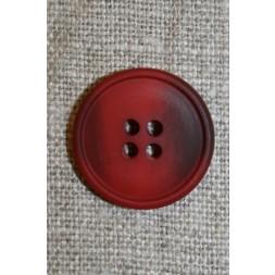 4-huls knap meleret rød/mørkerød, 20 mm.-20