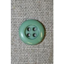 4-huls knap støvet grøn, 13 mm.-20