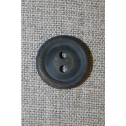 Brun meleret 2-huls knap m/kant, 20 mm.-20