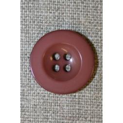 Pudder-brun 4-huls knap, 20 mm.-20