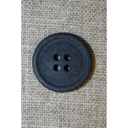 4-huls knap mørkeblå granit-look, 20 mm.-20