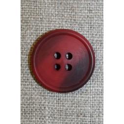 4-huls knap mørk rød/bordeaux 22 mm.-20