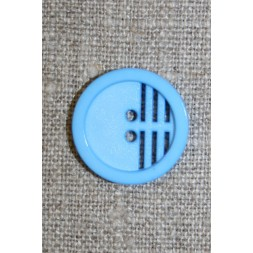 2-huls knap m/riller, lys blå-20