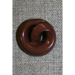 """Brun knap """"kringle"""", 22 mm.-20"""