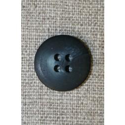 4-huls knap meleret mørkeblå/denim, 18 mm.-20