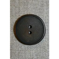 Mørkebrun 2-huls knap 28 mm.-20