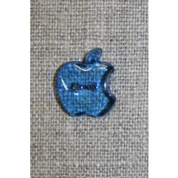 Knap m/æble, blå-20