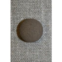 Rund grå-brun knap, 15 mm.-20