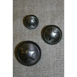 Uniforms-knap m/stjerne gun-metal-20