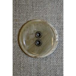 Beige meleret knap m/metal huller, 28 mm.-20