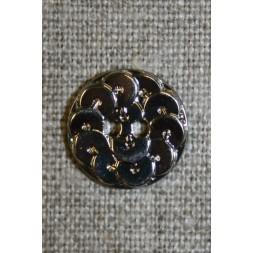 Knap i Palliet-look, sølv 15 mm.-20