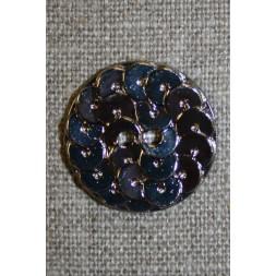 Knap i Palliet-look, sølv 23 mm.-20