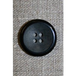 4-huls knap koksgrå meleret m/sort kant 20 mm.-20